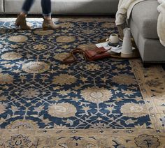 Madeline Persian Rug - Blue Multi