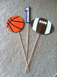 Sports Centerpieces Party Supplies Basketball Football Made to Order 6 pcs.