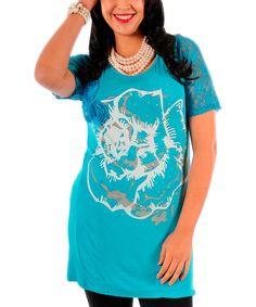 Loving this Turquoise Rose Tunic