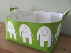 Fabric Diaper Caddy - Etsy