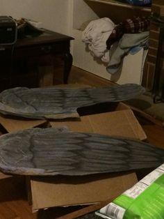Weeping Angel wings In Progress