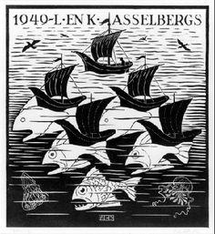 New Year's Greeting Card - M.C. Escher, 1949