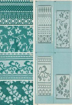 Pattern Library for Punch Card Knitters 1973 33 — Яндекс. Designer Knitting Patterns, Fair Isle Knitting Patterns, Fair Isle Pattern, Knitting Charts, Loom Knitting, Knitting Designs, Knitting Stitches, Knitting Machine, Fair Isle Chart