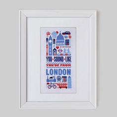 Sound Like London Cross Stitch Pattern (Digital Format - PDF)