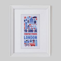 Sound Like London Cross Stitch Pattern (Digital Format - PDF)