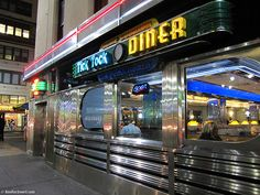 Neon Light, Tick Tock Diner, New York City, 10:20 PM.