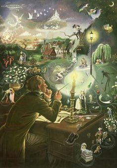 The World of Hans Christian Andersen - My Dad and Stepmum had this picture as a jigsaw framed in their house when I was young I love it