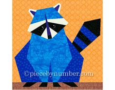 Image detail for -raccoon paper pieced quilt block pattern Paper Pieced Quilt Patterns, Quilt Block Patterns, Pattern Blocks, Pattern Paper, Quilt Blocks, Patchwork Quilting, Scrappy Quilts, Sewing Patterns, Animal Quilts
