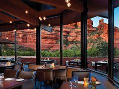 Stunning Hotel Dining-Room Views: Che-Ah-Chi at Enchantment Resort, Sedona, Arizona Sedona Arizona, Arizona Road Trip, Arizona Travel, Arizona Usa, Scottsdale Arizona, Destin Resorts, Hotels And Resorts, Best Hotels, Luxury Hotels