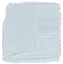 """Benjamin Moore""""ICEBERG""""2122-50  """"This is a lovely pale blue, so faint that it brings the sky into the room. It's neither a cold nor too blue.Instead, it simply adds a crisp background for a calming sleep or a restfulread. Raw woven silks in blues or soft whites react well to this shade. Surprisingly, to get the most out of a blue-and-white scheme, every room needs a serious hit of black.I suggest glossy doors or ebonized furniture.""""-Steven Gambrel"""