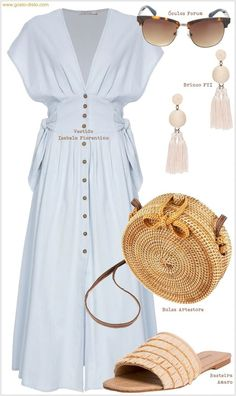 Looks Brancos Inspiring White Looks for Spring and Summer you can find similar pins below. We have brough. Classy Dress, Classy Outfits, Stylish Outfits, Look Fashion, Girl Fashion, Womens Fashion, Girls Fashion Clothes, Fashion Dresses, Sexy T Shirt