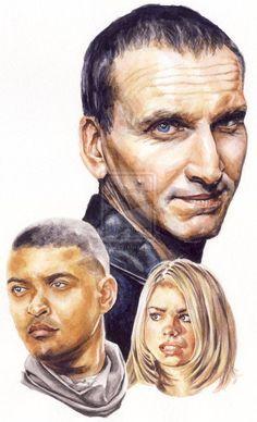 fyeahdoctorwhofanart:  Doctor Who - Ninth Doctor bysmoothdaddyrideon deviantArt
