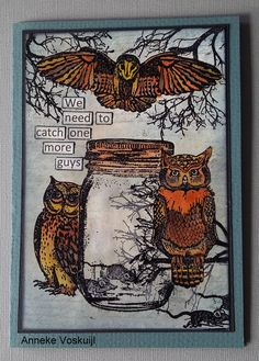 Inner World, Journey, Atc Cards, Art Journals, Mason Jars, Moose Art, Projects To Try, Stamps, Owls