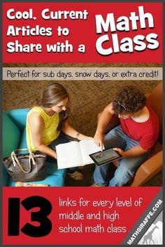 Relevant Math Articles to Share with Teens (Math Giraffe - The Math Classroom… Math Writing, Math Literacy, Math Teacher, Math Classroom, Fun Math, Teaching Math, Math Education, Classroom Ideas, Teacher Stuff