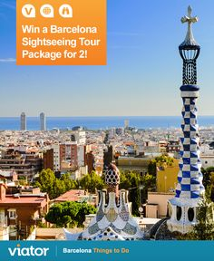 Off to ‪#‎Spain‬ this year? Enter our ‪#‎giveaway‬ for a chance to win a ‪#‎Barcelona‬ sightseeing tour package for 2! (ENDS 7/31)