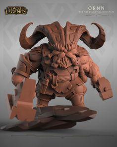 """ArtStation - Ornn """"The Fire below the mountain"""" - High res model- League of Legends, Daniel Orive"""