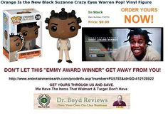 """Dr. Boyd Reviews Announces """"The Emmy Award Winning"""" Crazy Eyes From The 'Orange Is The New Black' Hit TV Show.  OVER 12,000+ HITS   http://www.entertainmentearth.com/prodinfo.asp?number=FU5792&id=GO-412128922"""