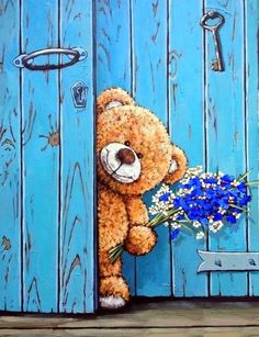 Popsters - статистика и аналитика контента социальных сетей Tatty Teddy, Bear Cartoon, Cute Cartoon, Bear Illustration, Pintura Country, Cute Teddy Bears, Bear Art, Birthday Pictures, Good Morning Images