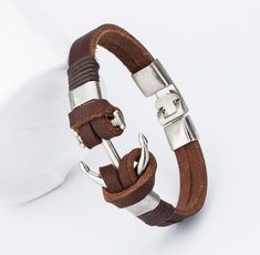 2017 New Fashion Charm Leather Anchor Bracelets For Men Popular Bangle Handmade Leather Bracelets Hooks Bracelets ! Leather Charm Bracelets, Bracelets For Men, Handmade Bracelets, Fashion Bracelets, Bangle Bracelets, Anchor Bracelets, Fashion Jewelry, Nautical Bracelet, Man Jewelry