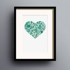 button heart print by dig the earth | notonthehighstreet.com