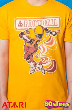 d3bfe9752c3 Atari Football T-Shirt  Atari Mens T-Shirt Attention Atari Geeks! Gaming  history is depicted with this cool art and design.