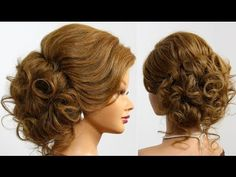 Bridal prom updo. Hairstyle for long medium hair - YouTube