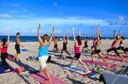 sunset yoga in delray beach!