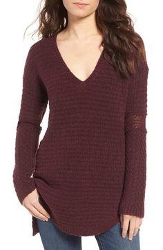 Main Image - Hinge Lace Inset V-Neck Sweater