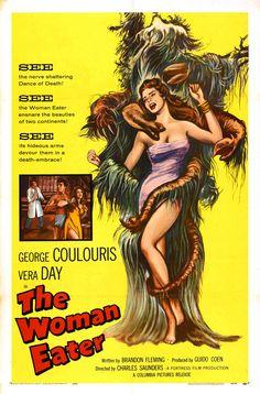 Affiche de films vintage d'horreur des années 50