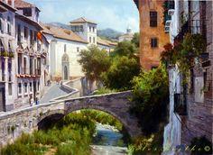 PINTURA PÉTER BOJTHE Tv5 Monde, Cordoba Spain, Andalusia, Painting Inspiration, Ocean, Mansions, House Styles, Places, Carrera