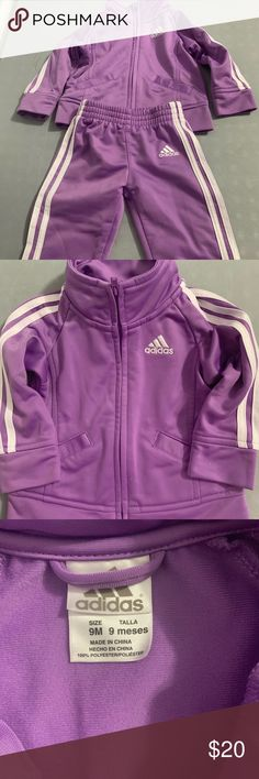 Baby girls Adidas track suit Adidas track suite worn once. Purple! adidas  Matching Sets 8d6e861746af1