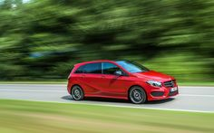 Mercedes-Benz B-Class model year B 250 jupiterrot, AMG Line, exterior [Fuel consumption combined: km) emission combined: g/km] Mercedes B Class, Mercedes Benz Cars, Bike Prices, Daimler Ag, Bike News, Benz S, Automobile Industry, Latest Cars, Luxury Cars