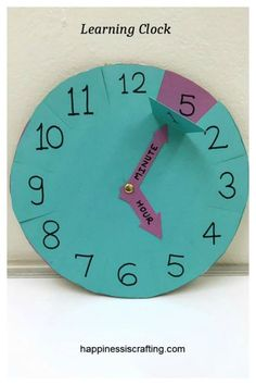 Learning Clock For Kids – Happiness is Crafting!
