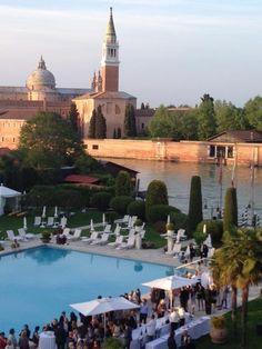 Hotel Cipriani, Venezia, alla Giudecca - sunday's wedding brunch - George Clooney and Amal Alamuddin hosted their wedding brunch here