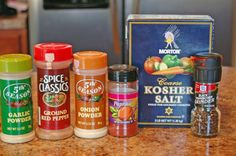 Make your own seasoned salt--much better than store bought!