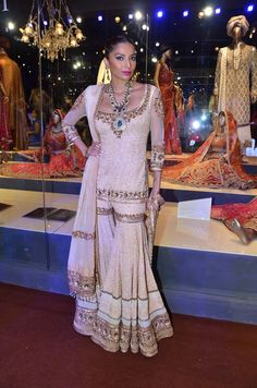 The sharara and the gharara are lower garments that are like flared pants. While a variety of such garments were in use in India in the 18th and 19th century, some of the examples shown here were...