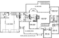 House Plan 86849   Craftsman Plan with 2370 Sq. Ft. - xtra ref in pantry a plus, add a in-law suite in the back of the house.