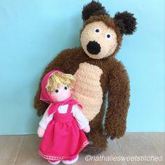 CROCHET - MASHA AND THE BEAR / MASHA & MICHKA - DOLL - RUSSIAN GIRL - Masha and the best crochet amigurumi dolls Www.nathaliesweetstitches.com