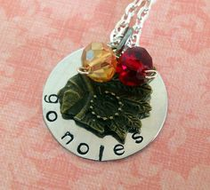 Hand Stamped Florida State Seminoles Necklace @simplysweethome