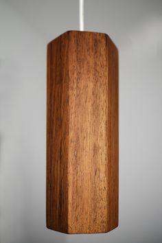 Lampa wisząca Heksagon 1 drewno egzotyczne - biudrewno - Lampy sufitowe