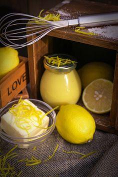 Lemon curd, lemons, food photo