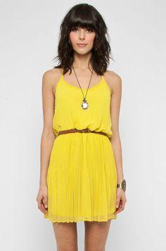 #yellow :)  Yellow Dress #2dayslook #fashion #nice #YellowDress  www.2dayslook.com