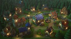 Lowpoly Township Set - Asset Store