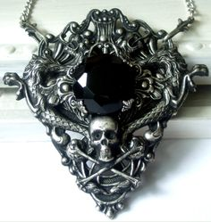 :icondesireemorte: The Dread Lord Underworldby DesireeMorte Artisan Crafts / Jewelry / Necklaces & Pendants©2011-2014 DesireeMorte Apparently the Dread Lord necklaces have become a collection. This is the latest, I think it turned out better than I expected. I darkened it, as I've done in the past, only I made it darker. Available at Peacock Tres Chic Use coupon code DEVIANT11 at checkout to get 10% off!! :iconharleyquinnade456: harleyquinnade456 - Add a Comment: :iconzombiefilledwithlove…