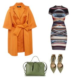 When the jacket and the bag and heels make the outfit by staciapandalover on Polyvore featuring polyvore, fashion, style, Hervé Léger, Paule Ka, Steve Madden, Jil Sander and clothing
