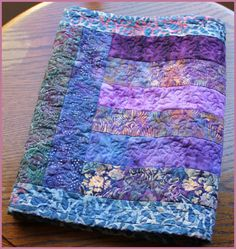 The I love Purple Batik Table Runner No 3 by norahsthings on Etsy,