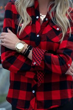 In love with buffalo plaid