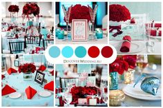 tiffany blue and red