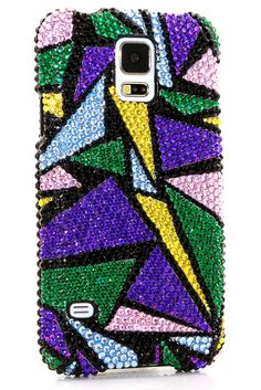 Glitter Girly Samsung Galaxy S5 bling case Triangular Design phone cover accessories protective for girls