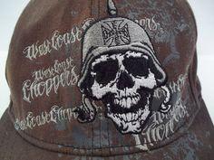 WEST COAST CHOPPERS Ball Cap Skull Helmet JESSIE JAMES Adult Cotton Fitted #JessieJames #BaseballCap